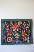 北欧織物/フレミッシュ織/つづれ織り/古典柄/ブーケ
