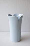 北欧ヴィンテージ/Hoganas Keramik社/花瓶/ペールブルー