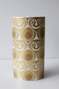 北欧ヴィンテージ/Bjorn Wiinblad(ヴョルン・ウィンブラッド)/オーバル花瓶/幾何学模様