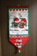 【クリスマス】北欧ヴィンテージ/ポストカード入れ壁掛け/ニッセのカップル