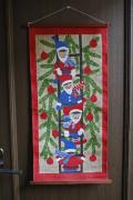【クリスマス】北欧ヴィンテージ/壁掛け/ULLAS/ニッセとクリスマスツリー