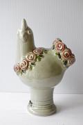 北欧ヴィンテージ/Rosa Ljung/ヴィンテージ花瓶/ニワトリとお花/SOLD OUT