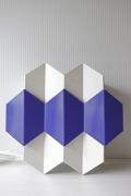 北欧ヴィンテージ/LYFA/壁掛けランプ/幾何学模様/ホワイト×ブルーパープル