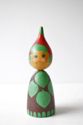 北欧ヴィンテージ/スウェーデン/木製のお人形/いちごちゃん/SOLD OUT