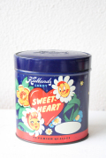 北欧ヴィンテージ/ノルウェー製/ヴィンテージ缶/お花と女の子