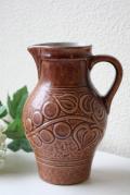 ドイツ製/ヴィンテージ持ち手付花瓶/植物模様/SOLD OUT