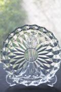 北欧ヴィンテージ/ガラスの浅ボウル/クリアカラー