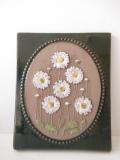 北欧ヴィンテージ/jie gantofta社/陶板の壁掛け/白いお花