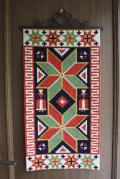 北欧の手仕事/スウェーデン製/ツヴィスト刺繍/ヴィンテージ壁掛け