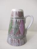北欧ヴィンテージ/LAHOLM/持ち手付き花瓶/フラワーモチーフ