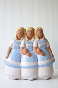 北欧ヴィンテージ/jie gantofta社/陶器のオブジェ/スウェーデンの3姉妹