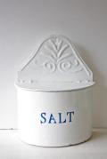 北欧ヴィンテージ/キッチン雑貨/ブリキの塩入れ