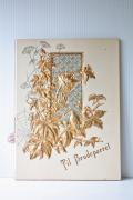 北欧ヴィンテージ/ウェディングカード/1908年