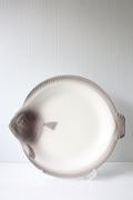 ドイツ製/ノスタルジックなお魚プレート/ヒラメ/No.1