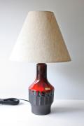 北欧照明/デンマーク製/ヴィンテージテーブルランプ/朱赤×ブラウン