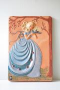 北欧ヴィンテージ/jie gantofta社/陶板の壁掛け/プリンセスと青い鳥