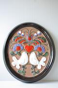 北欧ヴィンテージ/GABRIEL社/陶板の壁掛け/鳩&ハートモチーフ/SOLD OUT