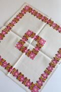 北欧ヴィンテージ/テーブルセンター/Ullas/ピンクの花