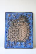 北欧ヴィンテージ/Aluminia/Royal Copenhagen/テネラ/鳥の陶板の壁掛け