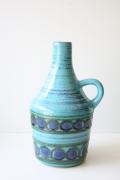 ドイツヴィンテージ/持ち手付き花瓶/ターコイズブルー