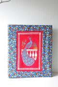北欧ヴィンテージ/刺繍カバーのファイルホルダー/孔雀