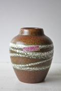 旧東ドイツ製/ヴィンテージ花瓶/地層模様