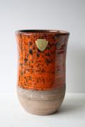 北欧ヴィンテージ/花瓶/オレンジ