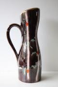 ドイツ製/ヴィンテージ花瓶/チョコレートブラウンのマーブルカラー