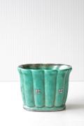 北欧ヴィンテージ/Gustavsberg/ARGENTA/スカラップミニ花瓶/No2