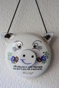 Aksini社/陶器の壁掛け貯金箱/ブタさん/SOLD OUT