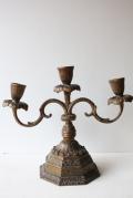 ブロカント/真鍮/ヴィンテージ燭台/クラシカルタイプ/ブロンズ色