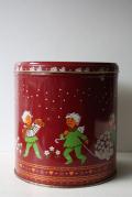 【クリスマス】レトロ缶/森の妖精ニッセ/レッド