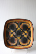 北欧ヴィンテージ/Royal Copenhagen/バッカ/角皿(22.5×22.5cm)