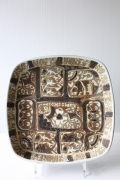 北欧ヴィンテージ/Royal Copenhagen/バッカ/角皿(22.5cm×22.5cm)