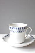 北欧ヴィンテージ/Lyngby Porcelain(リュンビュー・ポーセリン)/タンジェント/カップ&ソーサー