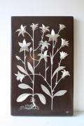 北欧ヴィンテージ/Heinz Erret/陶板の壁掛け/スウェーデンのお花