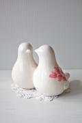 北欧ヴィンテージ/スウェーデン製/Rosa Ljung/2羽の小鳥のオブジェ