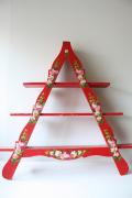 北欧ヴィンテージ/三角の飾り棚/ハンドペイントのお花/SOLD OUT