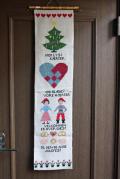 【クリスマス】大判!北欧ヴィンテージ壁掛け/クリスマスモチーフ