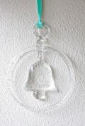 【クリスマス】北欧ヴィンテージ/ハンドメイドガラスのサンキャッチャー/ベル