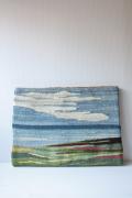 北欧織物/フレミッシュ織/海と草原の風景