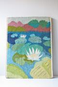北欧織物/フレミッシュ織/蓮の花