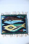 北欧織物/フレミッシュ織/敷き物/魚モチーフ/SOLD OUT