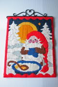 【クリスマス】北欧ヴィンテージ/手刺繍/ニッセとミルク粥