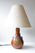 北欧照明/Soholm(スーホルム)/ヴィンテージテーブルランプ/ブルー&ブラウン/丸形