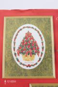 【クリスマス】北欧ヴィンテージ/図案&刺繍糸セット/クリスマスツリー