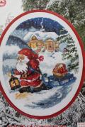 【クリスマス】北欧ヴィンテージ/図案&刺繍糸セット/サンタ