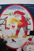 【クリスマス】北欧ヴィンテージ/図案&刺繍糸セット/ニッセとガチョウ