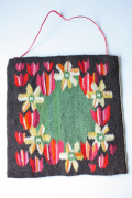 北欧織物/フレミッシュ織/つづれ織り/チューリップ