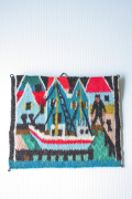 北欧織物/フレミッシュ織/つづれ織り/港町